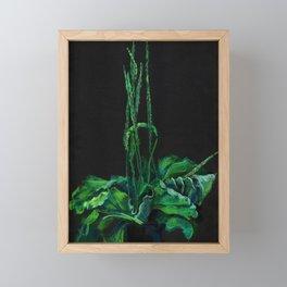 Plantain, green and black Framed Mini Art Print