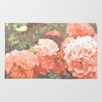 blossom Area & Throw Rugs featuring Blossom by 83 Oranges™