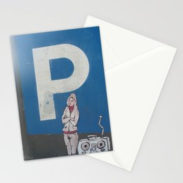 Parking sign with sticker Stationery Cards