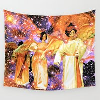 angels Wall Tapestries featuring Angels by Saundra Myles