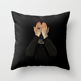Eyes did not see, mind did not look Throw Pillow