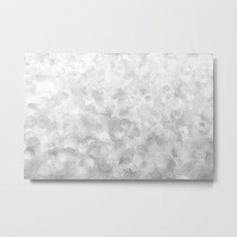 Shiny Sparkling Metal Snow Metal Print