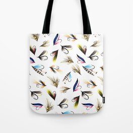 Classic Salmon Fishing Flies Tote Bag