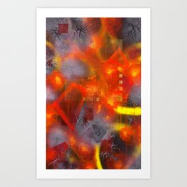The Disintegration Of Memory Art Print