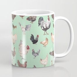 Chicken Happy (green) Coffee Mug