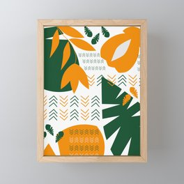 Abstract bohemian garden Framed Mini Art Print