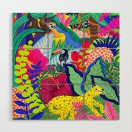 Jungle Party Animals Wood Wall Art