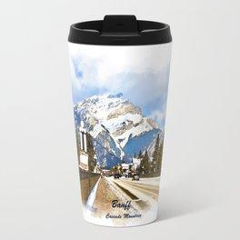 Cascade Mountain - Banff  Alberta Canada Travel Mug