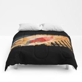 Chevy Rat Rod Badge Comforters
