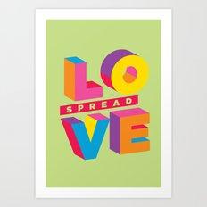 Spread Love Art Print