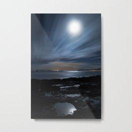 Moonlit Clouds Metal Print