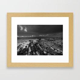 Coastal Geographical mono  Framed Art Print