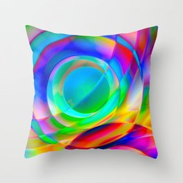 Circle Frenzy Throw Pillow