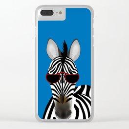 Shady Zebra Clear iPhone Case