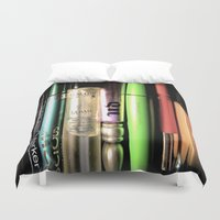 makeup Duvet Covers featuring Makeup Madness by ellevaz
