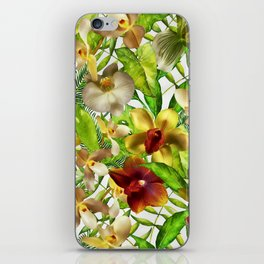 My tropical Orchid Garden- Jungle Pattern iPhone Skin