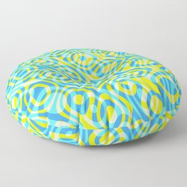 Mixed Polyps Yellow - Coral Reef Series 039 Floor Pillow