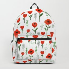 Poppy flower painted floral pattern minimal nursery happy decor gifts Backpack