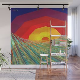 Waves at Sunrise One Wall Mural