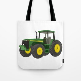 Green Farm Tractor Tote Bag