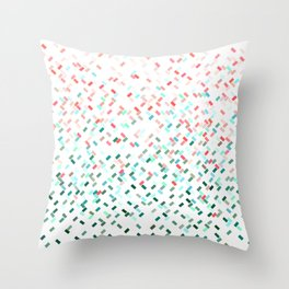 Confetti Basket Red Green Turquoise Throw Pillow