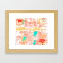 PEACH DELIGHT Framed Art Print
