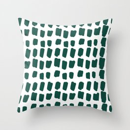 Green Abstract Paint Splotches Throw Pillow