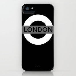 Black and White London iPhone Case
