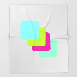 colourful division Throw Blanket