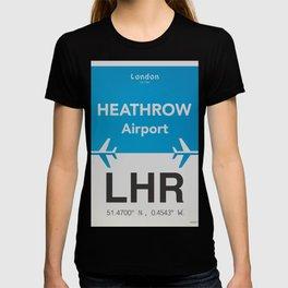 LHR Heathrow airport T-shirt