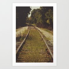 A path that leads to somewhere. Art Print