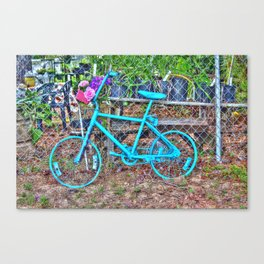 Turquoise Bicycle Canvas Print