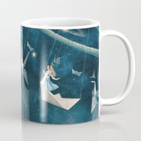 star Mugs featuring My Favourite Swing Ride by Paula Belle Flores