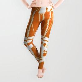 Orange Bike Leggings
