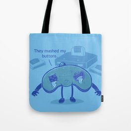 Button Mashing: Victim-less Crime? Tote Bag