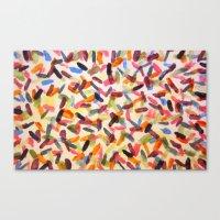 sprinkles Canvas Prints featuring Sprinkles by Rachel Butler