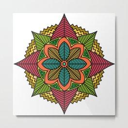 Respect Mandala Metal Print