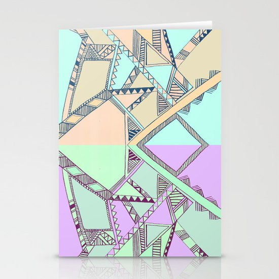 Aztec print illustration Stationery Cards