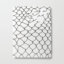 Break free (white) Metal Print