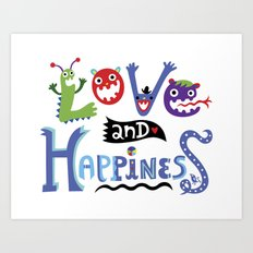 Love and Happiness Art Print