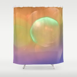 Vibrant Abstract Bokeh Texture Shower Curtain