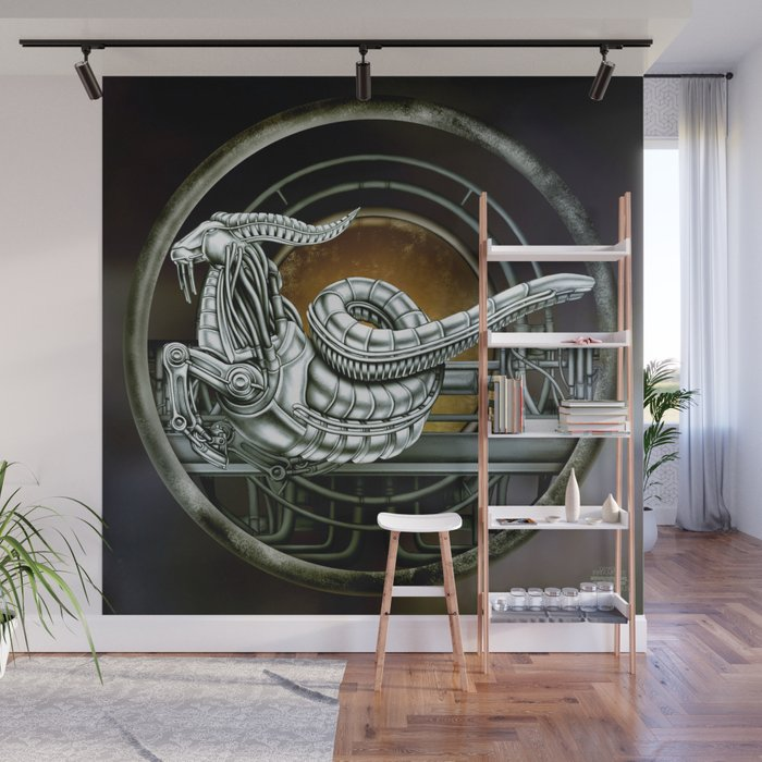 """Astrological Mechanism - Capricornus"" Wall Mural"