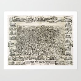 boston map art prints | Society6