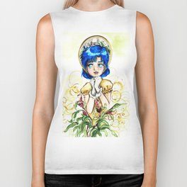Sailor Jupiter Yellow Flower Biker Tank