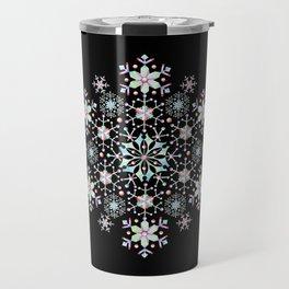 Snowflake Mandala Travel Mug