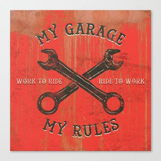 My garage Canvas Print