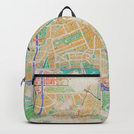Amsterdam in Watercolor Backpack