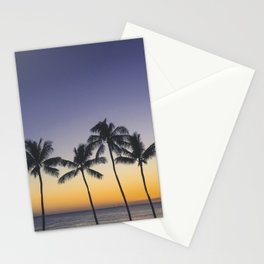 Palm Trees w/ Ombre Tropical Sunset - Hawaii Stationery Cards