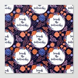 Smash The Patriarchy - A Floral Print Canvas Print