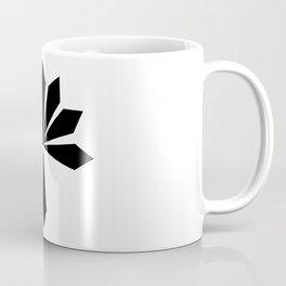 Metal Flower Black Coffee Mug